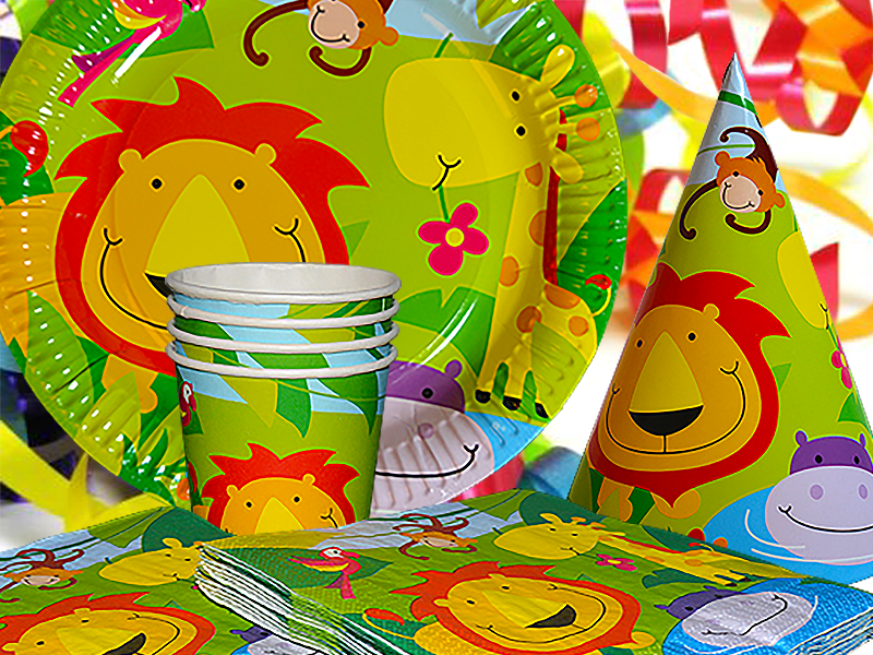 Jungle Party Tableware